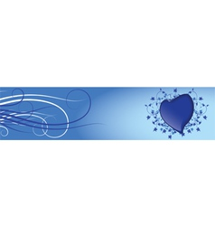 blue heart vector image vector image