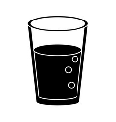 Glass cup juice nature pictogram vector
