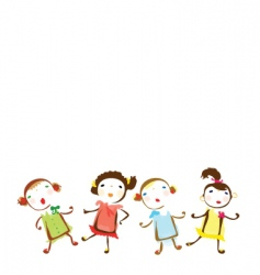 small girls background vector image vector image