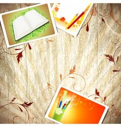 Vintage wooden education background vector image vector image