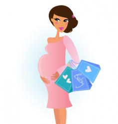 fashionable pregnant woman vector image vector image