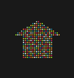 House in color dots vector image vector image