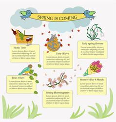 Springtime infographic vector