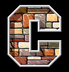 stone letter C vector image vector image