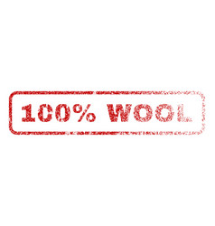 100 percent wool rubber stamp vector