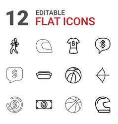 12 american icons vector