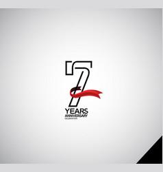 7 years anniversary logotype simple design vector