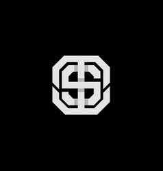 Abstract monogram letter ts st logo icon design vector