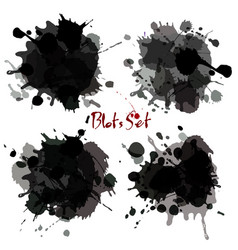 Abstract set blots background vector