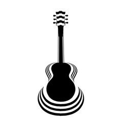 Acoustic Guitar Cutout vector image vector image