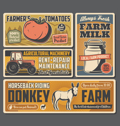 Agriculture farming gardening vegetable dairy vector