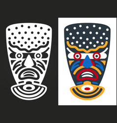 angry african tribal masks vector image