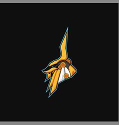 Anubis logo mascot design vector