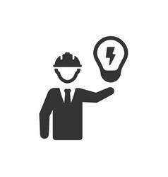 Architect designing idea icon vector