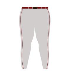 baseball pant image vector image