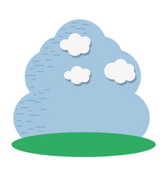 Beutiful sky with nice cloud icon vector