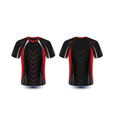 Black red and white layout e-sport t-shirt design vector