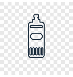 Bleach cleanin concept linear icon isolated on vector