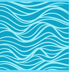 Blue sea wave background pattern vector