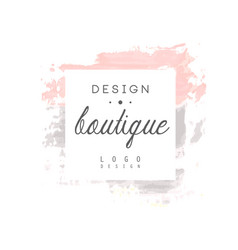 boutique design logo badge for fashion clothes vector image