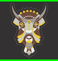 bull geometry vector image