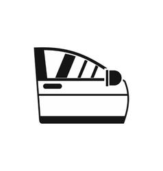 Car door icon simple style vector