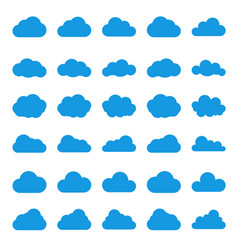 Cloud icon set black color on white background sky vector