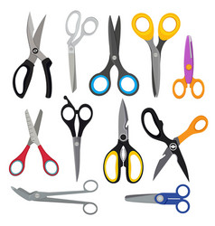 Colored scissors pictures vector