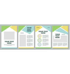 Company introduction brochure template vector