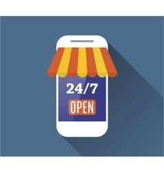 Concept of day and night online shop vector