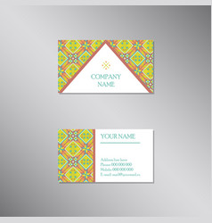 creative business card with modern ornament vector image