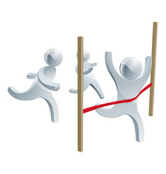 crossing the finish line vector image vector image