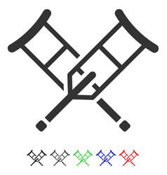 crutches flat icon vector image