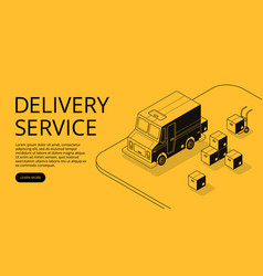 delivery service app isometric vector image