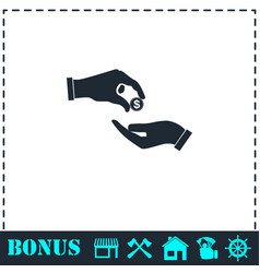 donate icon flat vector image