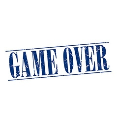 Game over blue grunge vintage stamp isolated on vector