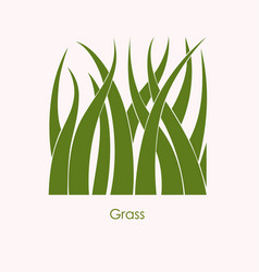 grass label abstract design square icon vector image