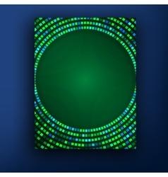 green brochure design set vector image