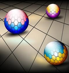 Hexagonal round vector