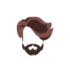 Hipster Male Hair and Facial Style With Volume vector image