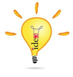Idea bulb part two vector