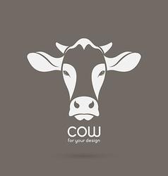 Image a cow head design vector