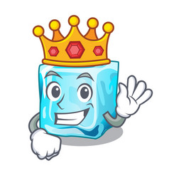 King ice cubes on the cartoon funny vector