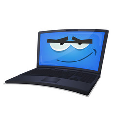 laptop computer character vector image vector image