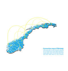 Modern of norway map connections network design vector