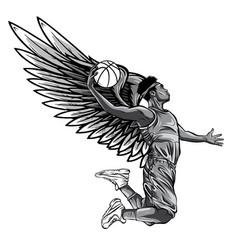 Monochromatic basketball player vector