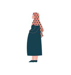muslim pregnant woman in hijab modern arab girl vector image