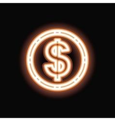 Neon clover silhouette icon vector image