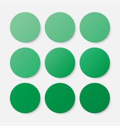 nine green circles button circle banner vector image