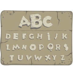 Old stone alphabet vector